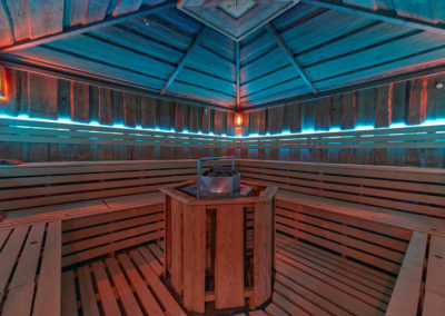 Orion wellness Brno interiér aroma sauny